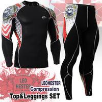 Leo pro straitest quick-drying t-shirt fitness clothing compression clothing basic shirt  C l 2 set _ _ 5