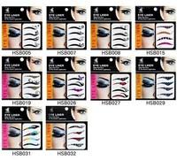 Wholesale 40pairs/lot Super Vintage Temporary Tattoo EyeLiners Sticker Smoky Eyes Eyeliner Free Shipping