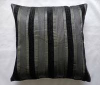 Polyester Chenille Stripe Cushion/Pillow Cover