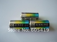 4000pcs/lot, 4LR44 6V Alkaline battery,(dog training collar,beauty pen batteries)