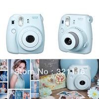 Free Shipping New Fujifilm Fuji Instax Mini 8 Instant Film Camera - Blue
