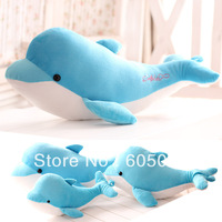 Free shipping 2013 hot sale Lovely carton sea world dolphin doll plush toy pillow cushion for leaning on of creative baby gifts