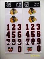 self-adhesive Ice hockey stickers slapshot flanchard hockey helmet sticks