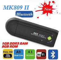 Android4.1 MK809 II dual core RK3066 TV stick HDMI 1080P full HD 1GB DDR3 8GB flash TV box bluetooth wifi Hi-Fi audio output