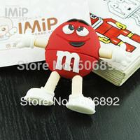 Wholesale USB Flash Drive m&m's Bean Memory Flash/Pen/Thumb Drive 2GB 4GB 8GB 16GB 32GB Free Shipping