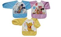 New 3 Patterns Toddler Baby Infants Boys Girls Long Sleeves Waterproof Bibs 003