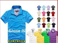 2013 new brand lapel men's short-sleeved shirt 100% cotton