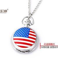 Uk version fashion quartz pocket watch cool child necklace table male women's