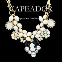 Fashion imitation gem necklace