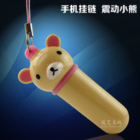 Free shipping Phone lanyards Mini Vibrator Cute Stimulate Breast Clitoris Waterproof Mute Female masturbation stick