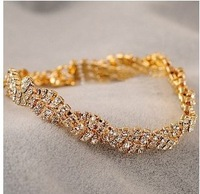 C022 delicate full drill shiny bangle bracelet with