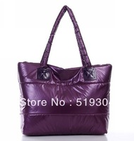 Hot Sale Free Shipping  Ladies Handbag New Arrival Fashion Design PU and Cotton  Women Tote Bag