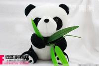 16 cm Panda  Shining bamboo plush doll toy panda doll pendant birthday gift doll
