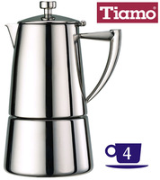 Coffee pot stainless steel mocha pot household appliance coffee tiamo4 filter paper
