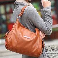 free shipping- 2013 genuine cowhide leather bags women's handbag messenger bag shoulder bag handbag women's handbag