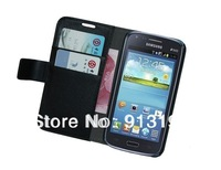 Free shipping For Galaxy Core gt-i8260 Flip Cover Stand leather,Wallet Leather Case Skin for Samsung Galaxy Core i8260 i8262