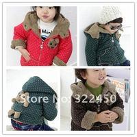 Retails 1PC(75-100CM) Children Kids Girl's&Boy's Hoodies,Berber Fleece lining winter coats & Jackets For boys girls,Freeshipping