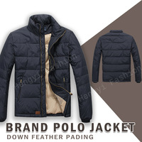 2013 Winter Brand mens POLO jackets down feather pading outdoor polo jacket for mens winter jacket thick down coat XXL MP1201