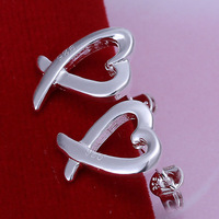 Valentine's Day Gift!2014 New arrival 925 sterling silver fashion lovers stud earring for women.Best selling items E055
