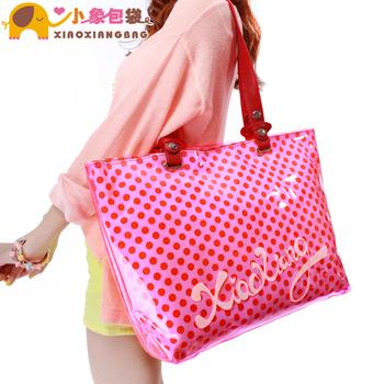 Circleof bag 2013 fashion jelly bag neon color polka dot beach bag handbag x905-1