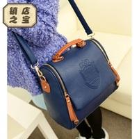 2013 candy color badge women's handbag vintage fashion handbag one shoulder cross-body women's bags