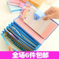 6040 stationery small fresh cartoon portable expanding file bag bill bag storage