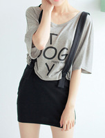 2013 summer fashion preppy style twinset slim high waist vest suspender skirt suspenders one-piece dress