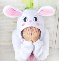 New  Pajamas Anime Pink Rabbit Kigurumi Pajamas Anime Cosplay Costume unisex Adult Onesie Dress