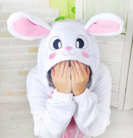 Pink Rabbit Kigurumi Pajamas Anime Cosplay Costume unisex Adult Onesie Dress