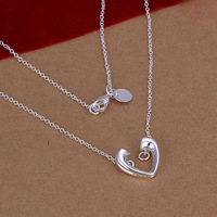 Free Shipping 925 Sterling Silver Jewelry Necklace Fine Fashion Cute Charms Chains Pendant Necklace Top Quality N116