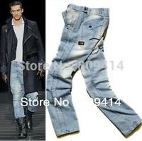 2013 New Arrival,Men's Jeans , Hot Sale Pants,Fashion Jeans,,LIGHT-BLUE Trousers Denim Jeans ,Size 28-38,G-8215 Free Shipping