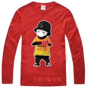 Roddy doughface jabbawockeez hip-hop masculino básico T-shirt camisa de manga comprida(China (Mainland))