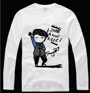 Roddy hip-hop máscara jabbawockeez masculino básico T-shirt camisa de manga comprida(China (Mainland))
