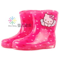 Worldwide Free shipping Kt cat child rain boots child rainboots crystal rainboots water shoes rain boots rain shoes