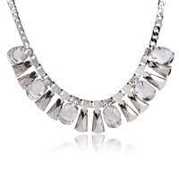8.19 free shipping 2014 New Wholesale Iron Link Chain Choker Necklace With rhinestone  High quality !TN-12451