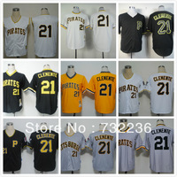 Wholesale&Retail Pittsburgh Pirates jersey #21 Roberto CleMente Throwback Embroidery Baseball Jersey Can Mix Order