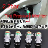 New 1 Set(4pcs) 2.2bar Car Tyre Tire Pressure Monitor Indicator Valve Stem Cap Sensor 3 Color Eye Air Alert FreeShipping