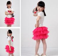 2014 new fashion 9-color girls skirt style children girls tutu kids baby fluffy pettiskirts 11-072