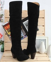 knee boots women fashion long boot winter footwear high heel shoes sexy snow warm  ld-a-1
