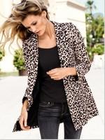 2014 new arrival leopard women blazer outerwear