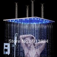 Water pressure glow self-powered color change led lighting spray shower head shower set