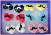 Free shipping hot sale fashion jewerly 18cm stud earring/60pairs/lot, heart moustache stud earring