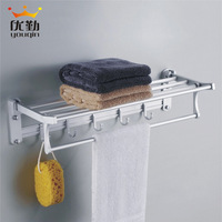 High quality towel rack in the bathroom aluminum bathtube rack towel bar free shipping