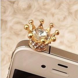M001 Free Shipping!Korean crown the dustproof plug Mobile Phone dust plug B2.85(China (Mainland))
