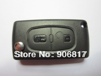 High Quality Keys Case for Car Peugeot 307 2 Buttons Folding Remote Key Shell Replacement (without Groove) + Free Shipping