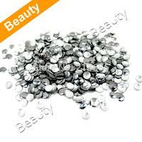 New Fashion DIY 1000Pcs 2.0mm Silver Rotundity Rhinestone Perfect for 3D Nail Art Decoration Metal Studs Beads Rhinestone 13186