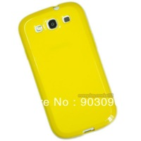 Yellow TPU Jelly Solid Rubber Color Skin Cover for Samsung Galaxy S III S3