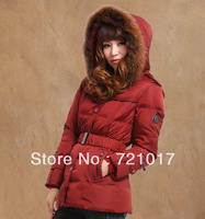 2013 short design medium-long plus size women's down coat casual outerwear