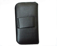 HKP ePacket Free Shipping Leather Pouch phone bags cases with Belt Clip for huawei ascend g500 Cell Phone Accessories