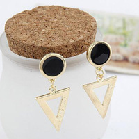 Fashion vintage unique triangle stud earring female earrings